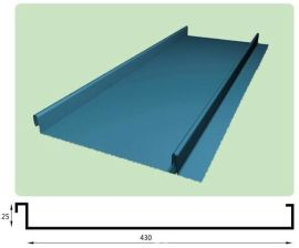 矮立边YX25-430型铝镁锰板