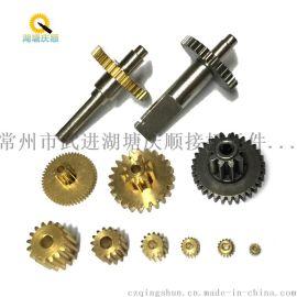 常州齿轮厂 小模数齿轮轴 微型电机齿轮轴 0.7模数