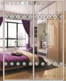 厂家供应钛钢烫花工艺玻璃用于阳台、厨房、 办公室玻璃隔断 时尚透明办公室隔断 室内办公室