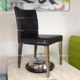 餐厅餐椅酒店火锅烧烤店椅子软包金属仿木钢管椅子