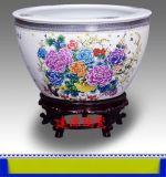 陶瓷大鱼缸,定做青花瓷大缸厂家