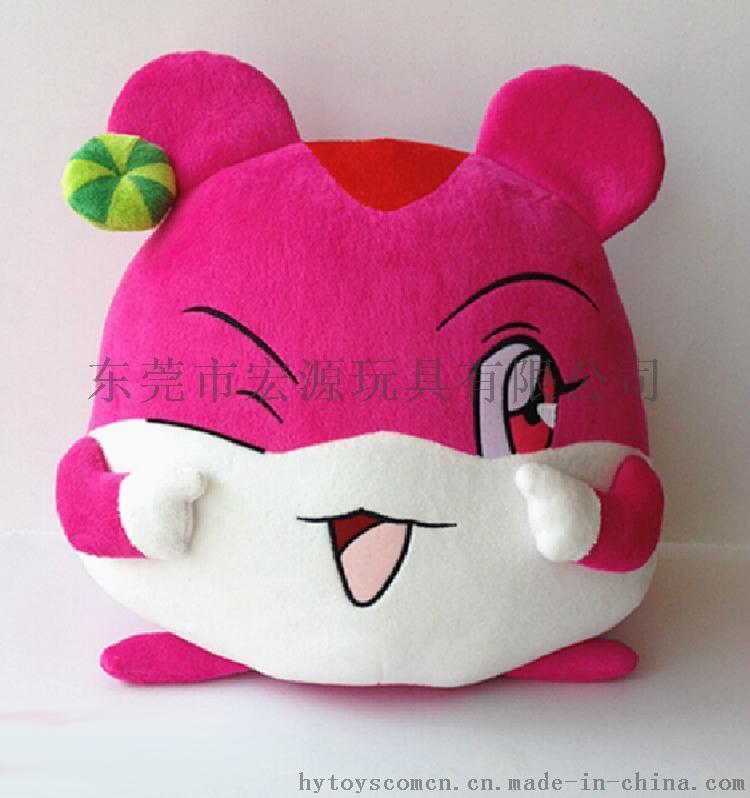 東莞宏源玩具來圖定製毛絨玩具 企業吉祥物 填充玩具