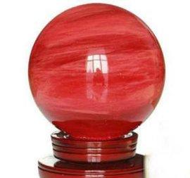 水晶球熔炼球鸿运球转运球水晶球内雕非天然水晶球