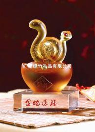 蛇年水晶摆饰