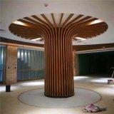 仿木纹型材铝方管加工工艺 背景墙漩涡状木纹铝方管 规格齐全