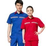 定製夏季中石油中石化加油站短袖男女工作服套裝反光條工裝印logo