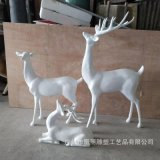 玻璃鋼彩繪雕塑定製 玻璃鋼梅花鹿雕塑 玻璃鋼麋鹿裝飾耶誕節擺件