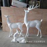玻璃钢彩绘雕塑定制 玻璃钢梅花鹿雕塑 玻璃钢麋鹿装饰圣诞节摆件