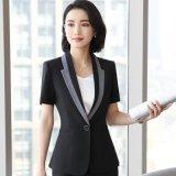 大碼西裝套裝女夏季薄款短袖西服正裝女加肥加大職業套裝女工作服