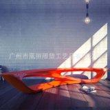 高档写字楼休息长椅 时尚创意休闲凳子 玻璃钢商场等候椅