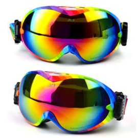 江哈尔滨滑雪场  彩虹色滑雪眼镜