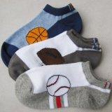 外贸纯棉袜子 提花童袜  中童船袜  运动童袜