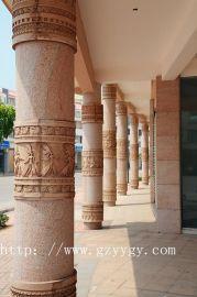 砂岩柱子 欧式罗马柱 别墅装饰柱子 酒店装饰柱墩 人造砂岩雕塑柱子
