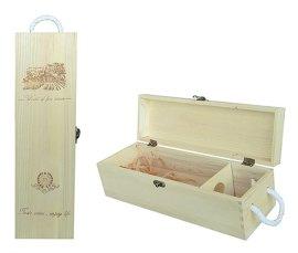 烙印翻盖式单支酒盒