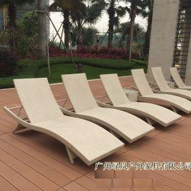 海南室外阳台躺床编藤休闲躺椅泳池沙滩椅