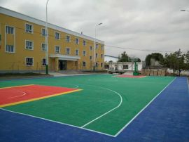 安徽亳州懸浮拼裝地板室外籃球場專用