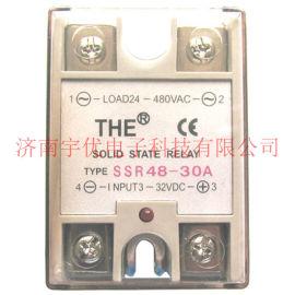 无锡天豪SSR48-30A 单相交流继电器THE