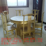 纯铜圆餐桌餐椅 精美图案吉祥如意