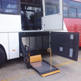 客车旅游车行李舱旋转式残疾人轮椅升降台液压举升机构