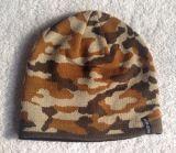 流行欧美迷彩氨纶提花圆机针织帽子
