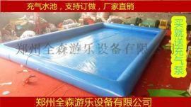 室外大型充气水池/游泳池/儿童充气水池沙滩池价格