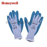 霍尼韋爾防接觸熱2級天然乳膠塗層工作手套 藍色2094140 10寸