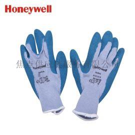 霍尼韦尔防接触热2级天然乳胶涂层工作手套 蓝色2094140 10寸