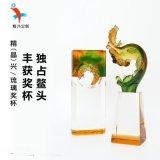 广州琉璃奖杯定制 公司年会表彰琉璃纪念奖杯