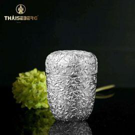 泰国锡器 国朝花锡茶罐 适合爱茶人士
