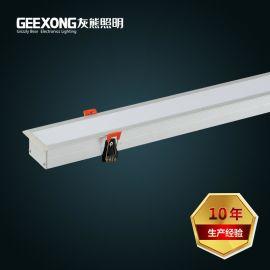 厂家定制40w嵌入式办公灯LED一体化支架灯LED嵌入长条灯长方孔灯