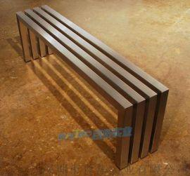 不鏽鋼公園長椅戶外休閒坐凳小區廣場景觀座椅長凳