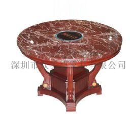 大理石电磁炉火锅桌,酒店火锅桌,小火锅桌批发定制