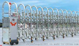 工厂防次大门 304不锈钢本色电动伸缩门