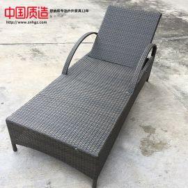广州舒纳和户外家具纯手工编藤躺床时尚美观耐用