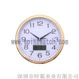 手表厂家供应外贸新款圆形带日历多功能挂钟