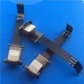 苹果无线充U型充电  5V-正极+负极3P双面弯头背夹