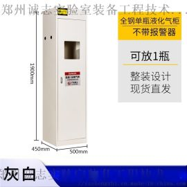 实验室单瓶气瓶柜 郑州诚志QPG气瓶柜 全钢气瓶柜