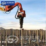 钢板拉森桩挖机高频液压打拔桩机 挖机加长臂打机桩机