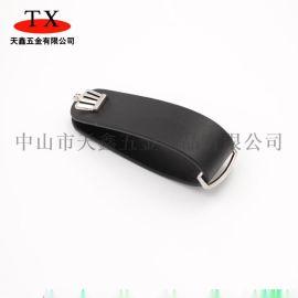 创意头层牛皮多功能钥匙收纳器 皇冠标志皮质钥匙夹