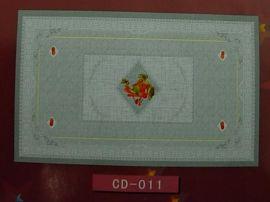 PVC透明印花台布 (CD-011)