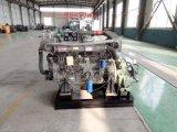 濰坊6105船機六缸帶海淡水交換器船用柴油機配齒輪箱變速箱包運費