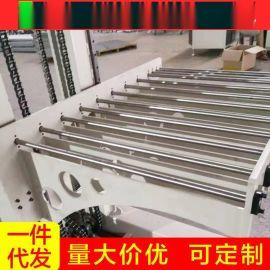 厂家定制包胶滚筒流水线带式皮带机动力滚筒输送线快递输送机