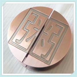 工廠定制工藝鋁拉手酒店會所爆款裝飾大門拉手加工鍍銅