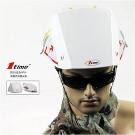 日本1-Time软塑一秒快速折叠超级轻便型防灾/应急/户外安全帽