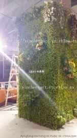 仿真草坪植物墙 生态植物墙 仿真花卉