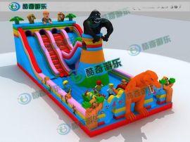 儿童玩的气床多少钱 大型充气蹦床城堡