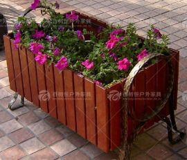 百树恒 供应防腐木花箱 实木花箱玻璃钢花箱陶瓷花箱