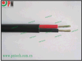 TUV認證 雙芯並行太陽能光伏電纜PV1-F 2X6mm2