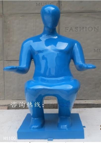 定製人物雕塑坐凳 玻璃鋼人物休閒坐椅 商場創意時尚玻璃鋼凳子