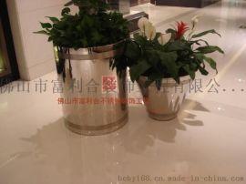 户外不锈钢花盆 落地金属花盆  机场装饰花盆